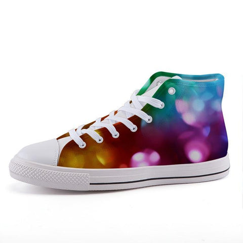 Printy6 Shoes 35 Maletropolis Custom High-Top Pride Sneakers - Rainbow Glitter