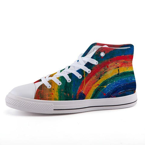 Printy6 Shoes 35 Maletropolis Custom High-Top Pride Sneakers - Rainbow Painter