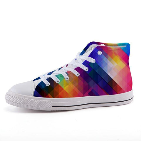 Printy6 Shoes 35 Maletropolis Custom High-Top Pride Sneakers - Rainbow Prism