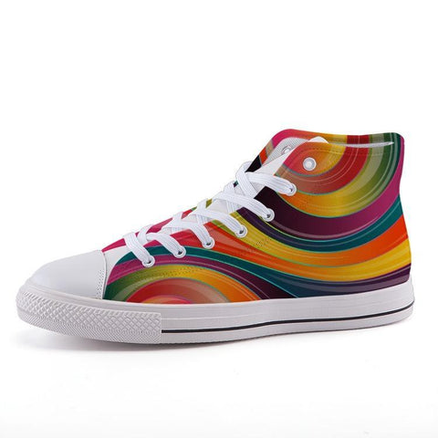 Printy6 Shoes 35 Maletropolis Custom High-Top Pride Sneakers - Rainbow Swirl