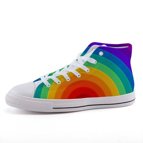Printy6 Shoes 35 Maletropolis Custom High-Top Pride Sneakers - Serious Rainbow