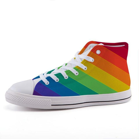 Printy6 Shoes 35 Maletropolis Custom High-Top Pride Sneakers - Stripe