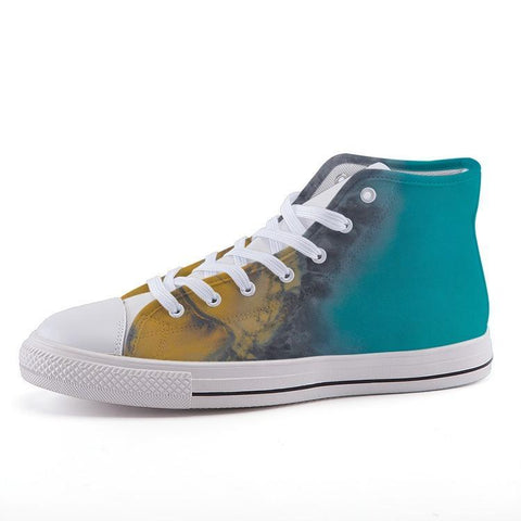 Printy6 Shoes 35 Maletropolis Custom High-Top Sneakers - Aerial Beach