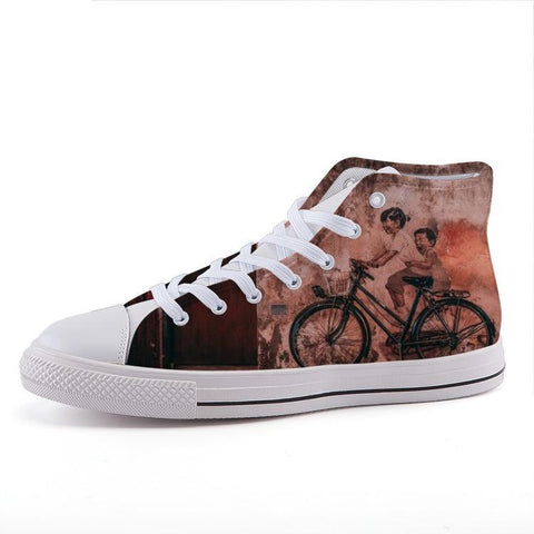 Printy6 Shoes 35 Maletropolis Custom High-Top Sneakers - Bicycle