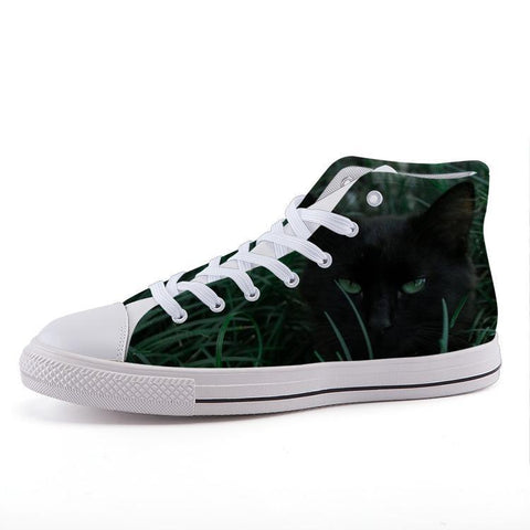 Printy6 Shoes 35 Maletropolis Custom High-Top Sneakers - Black Cat