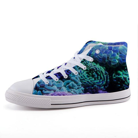 Printy6 Shoes 35 Maletropolis Custom High-Top Sneakers - Blue Coral