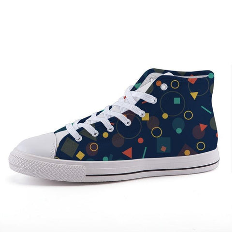 Printy6 Shoes 35 Maletropolis Custom High-Top Sneakers - Blue Geo
