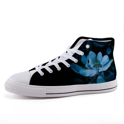 Printy6 Shoes 35 Maletropolis Custom High-Top Sneakers - Blue Lily