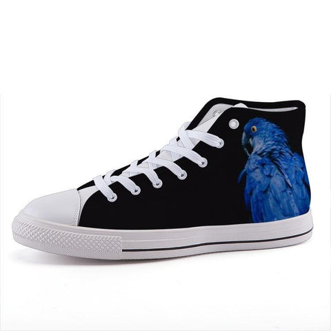 Printy6 Shoes 35 Maletropolis Custom High-Top Sneakers - Blue Parrot