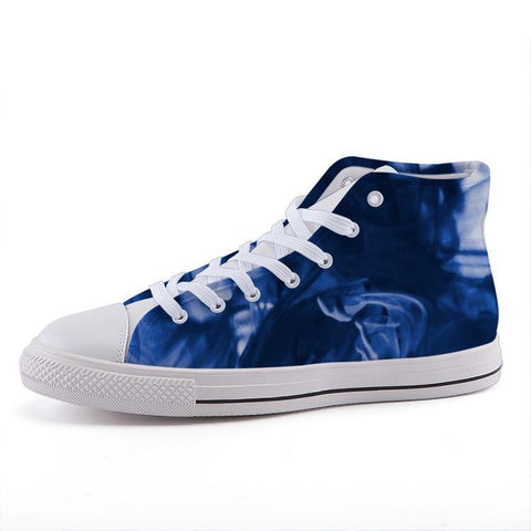 Printy6 Shoes 35 Maletropolis Custom High-Top Sneakers - Blue Smoke