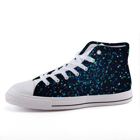 Printy6 Shoes 35 Maletropolis Custom High-Top Sneakers - Blue Speckle
