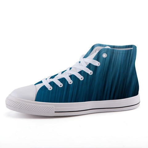 Printy6 Shoes 35 Maletropolis Custom High-Top Sneakers - Blue Strand