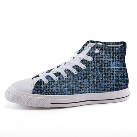 Printy6 Shoes 35 Maletropolis Custom High-Top Sneakers - Blue Tile