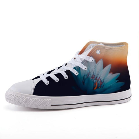 Printy6 Shoes 35 Maletropolis Custom High-Top Sneakers - Blue Water Lily