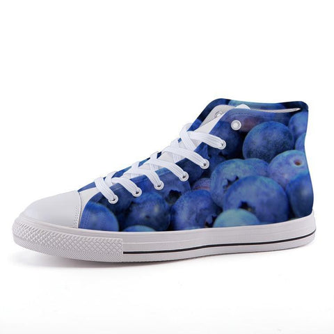 Printy6 Shoes 35 Maletropolis Custom High-Top Sneakers - Blueberries