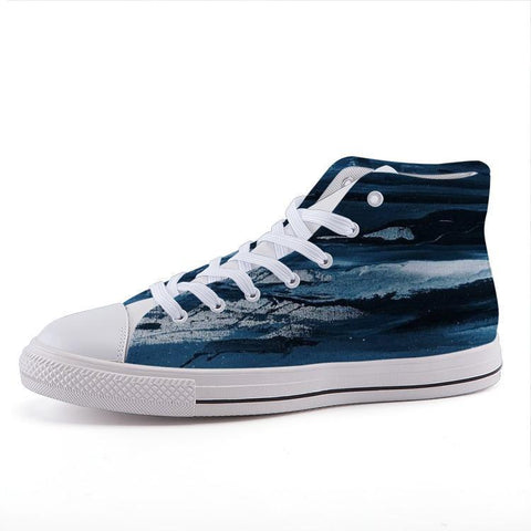 Printy6 Shoes 35 Maletropolis Custom High-Top Sneakers - Bluestone