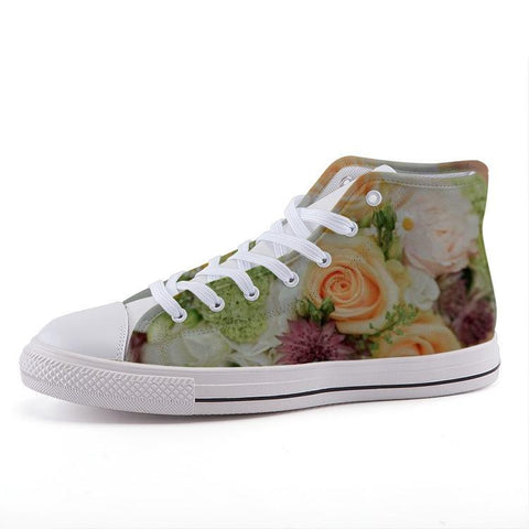 Printy6 Shoes 35 Maletropolis Custom High-Top Sneakers - Bouquet