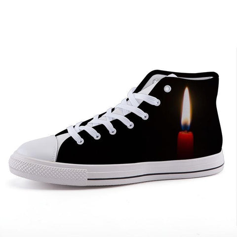 Printy6 Shoes 35 Maletropolis Custom High-Top Sneakers - Candle