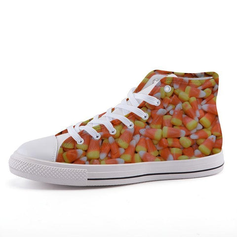Printy6 Shoes 35 Maletropolis Custom High-Top Sneakers - Candy Corn