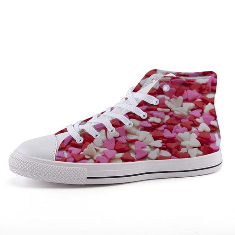 Printy6 Shoes 35 Maletropolis Custom High-Top Sneakers - Candy Hearts