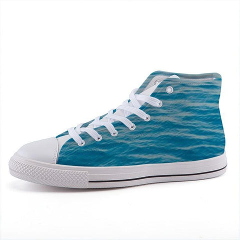 Printy6 Shoes 35 Maletropolis Custom High-Top Sneakers - Caribbean