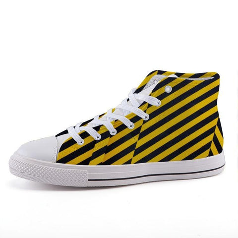 Printy6 Shoes 35 Maletropolis Custom High-Top Sneakers - Caution