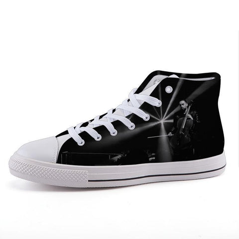 Printy6 Shoes 35 Maletropolis Custom High-Top Sneakers - Cello