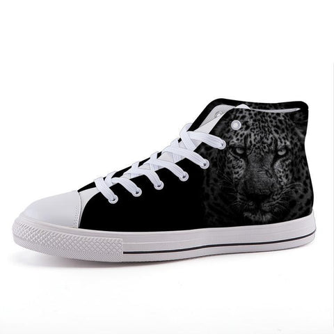 Maletropolis Custom High-Top Sneakers - Cheetah - Shoes - Maletropolis