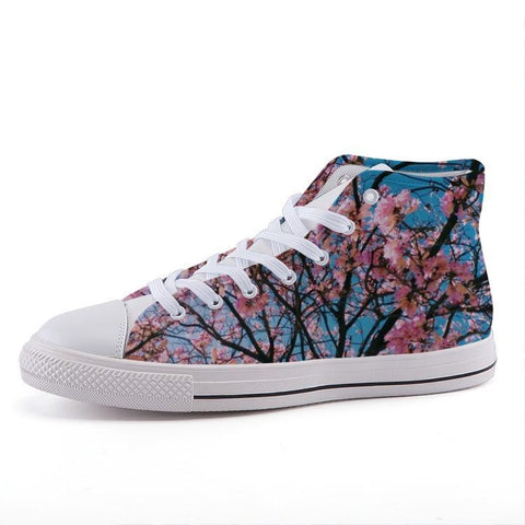 Printy6 Shoes 35 Maletropolis Custom High-Top Sneakers - Cherry Blossoms