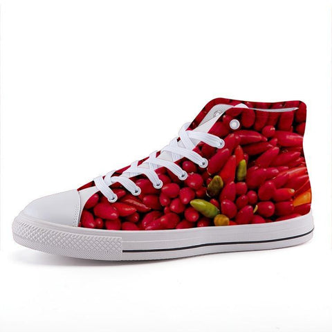 Printy6 Shoes 35 Maletropolis Custom High-Top Sneakers - Chile Peppers
