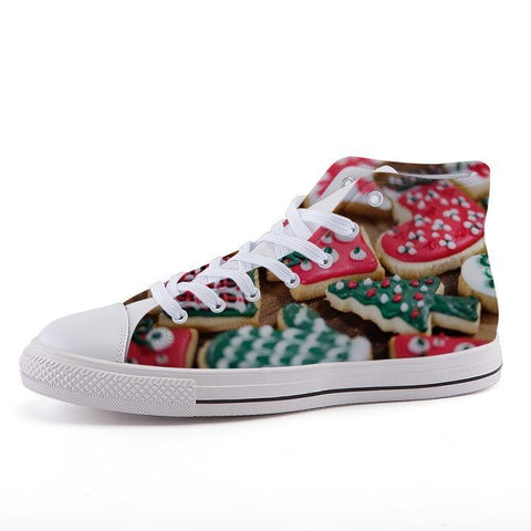 Printy6 Shoes 35 Maletropolis Custom High-Top Sneakers - Christmas Cookies