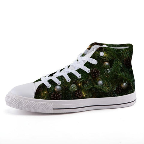 Printy6 Shoes 35 Maletropolis Custom High-Top Sneakers - Christmas Tree