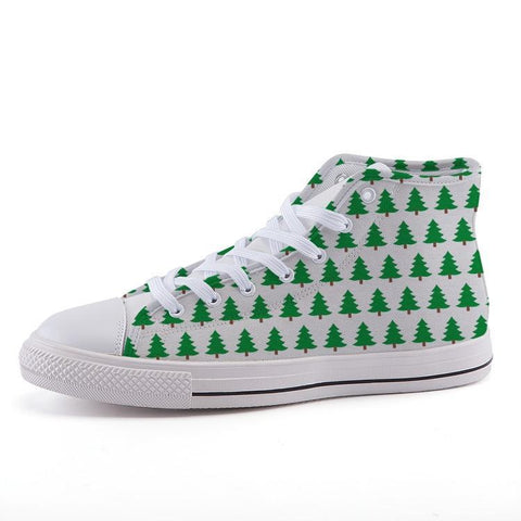 Printy6 Shoes 35 Maletropolis Custom High-Top Sneakers - Christmas Trees