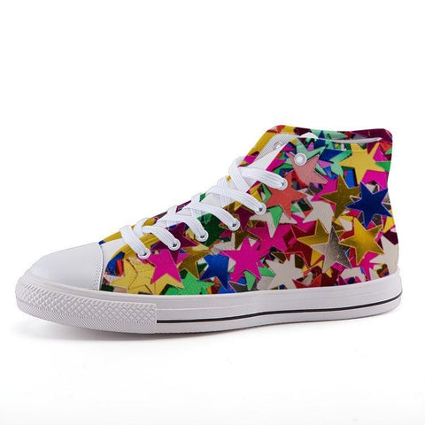 Printy6 Shoes 35 Maletropolis Custom High-Top Sneakers - Confetti Stars