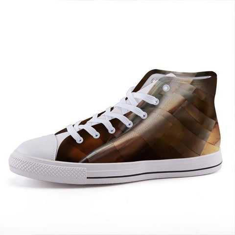 Printy6 Shoes 35 Maletropolis Custom High-Top Sneakers - Copperplate