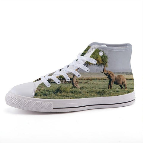 Printy6 Shoes 35 Maletropolis Custom High-Top Sneakers - Elephant