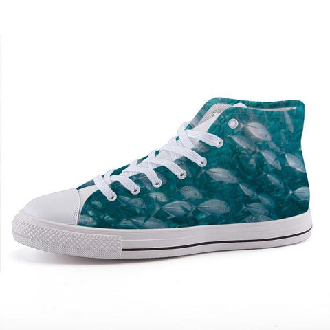 Printy6 Shoes 35 Maletropolis Custom High-Top Sneakers - Fish
