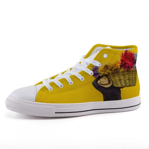 Printy6 Shoes 35 Maletropolis Custom High-Top Sneakers - Flower Basket