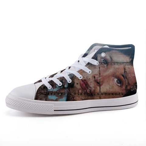 Printy6 Shoes 35 Maletropolis Custom High-Top Sneakers - Grafitti Face