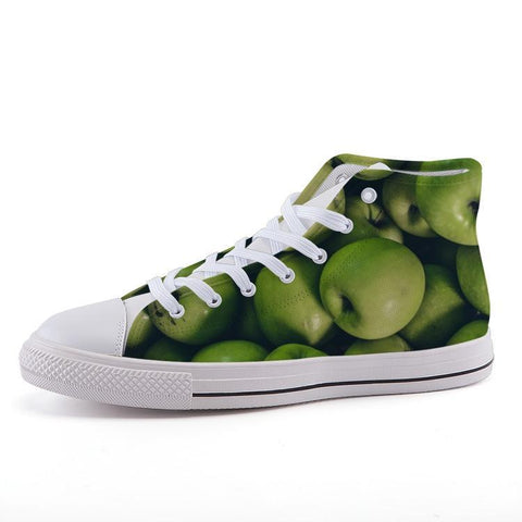 Printy6 Shoes 35 Maletropolis Custom High-Top Sneakers - Granny Smith Apples