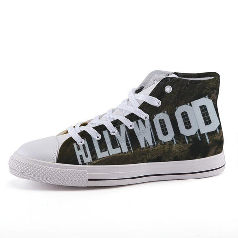 Printy6 Shoes 35 Maletropolis Custom High-Top Sneakers - Hollywood