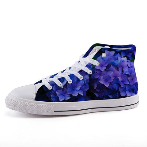 Printy6 Shoes 35 Maletropolis Custom High-Top Sneakers - Hydrangea