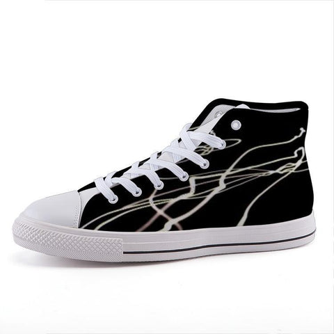 Printy6 Shoes 35 Maletropolis Custom High-Top Sneakers - Light Trail