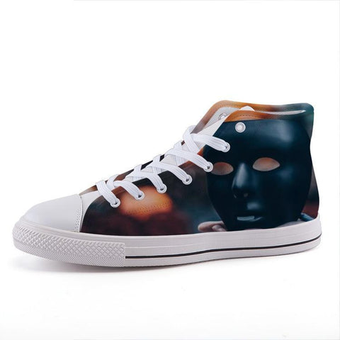 Printy6 Shoes 35 Maletropolis Custom High-Top Sneakers - Mask