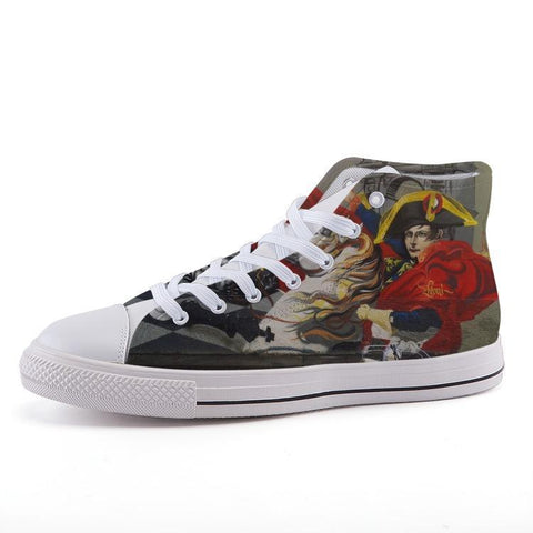 Maletropolis Custom High-Top Sneakers - Napoleon - Shoes - Maletropolis