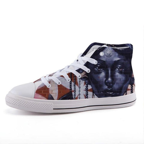 Maletropolis Custom High-Top Sneakers - Painted Face - Shoes - Maletropolis