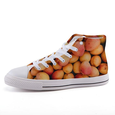 Printy6 Shoes 35 Maletropolis Custom High-Top Sneakers - Peaches