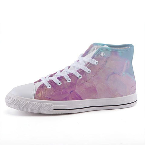Printy6 Shoes 35 Maletropolis Custom High-Top Sneakers - Pink Quartz