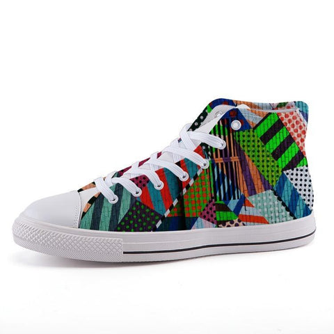 Printy6 Shoes 35 Maletropolis Custom High-Top Sneakers - Pop Art