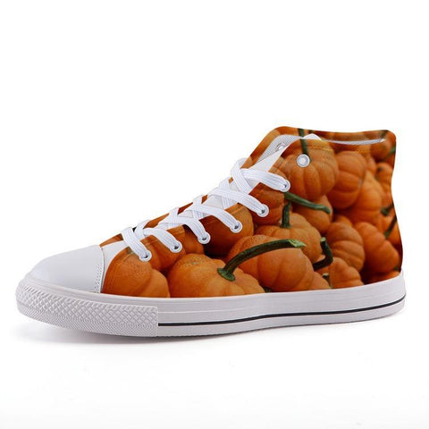 Printy6 Shoes 35 Maletropolis Custom High-Top Sneakers - Pumpkins